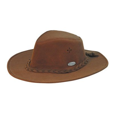 Cappello western in similcuoio idrorepellente